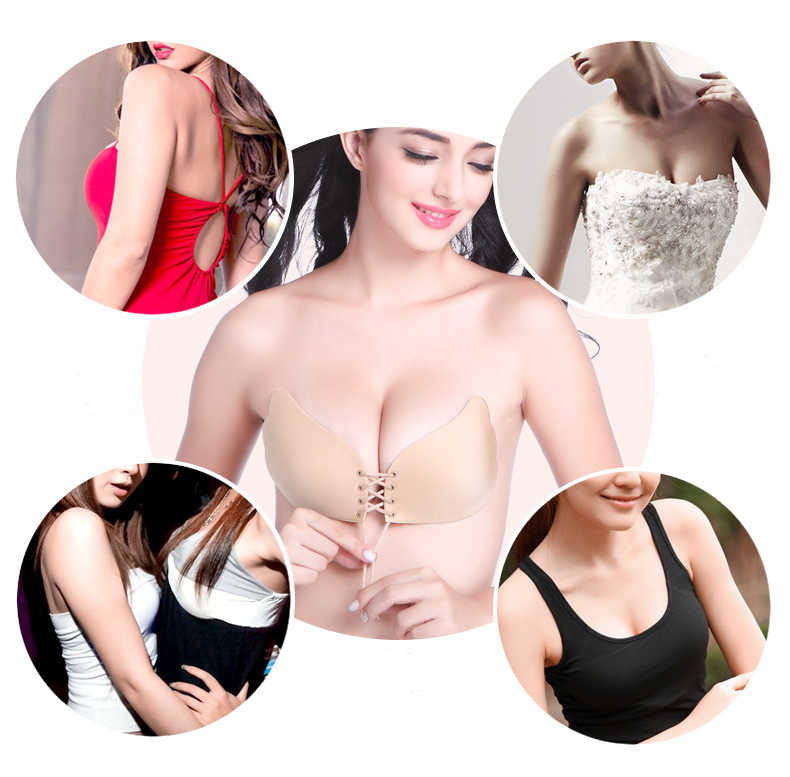 9c54b4c3bc ... Fly Bra Women Invisible Bra Super Push Up Seamless Bra Self-Adhesive  Sticky Wedding Party