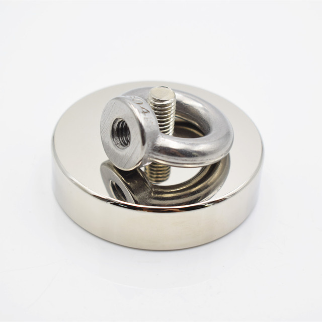 D60mm strong powerful round neodymium Magnet hook salvage magnet sea Fishing equipments