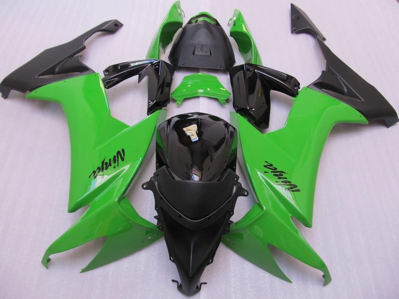 Customize ABS plastic fairing kit for Kawasaki ZX10R 2008 2009 green black Fairings parts Ninja ZX 10R 08 09 DS5