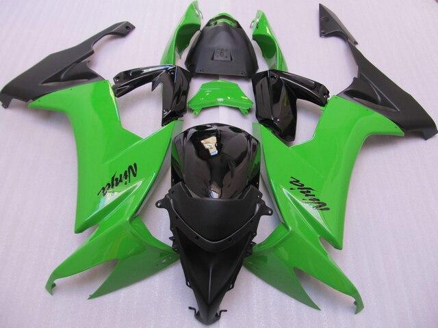 Customize Abs Plastic Fairing Kit For Kawasaki Zx10r 2008 2009 Green