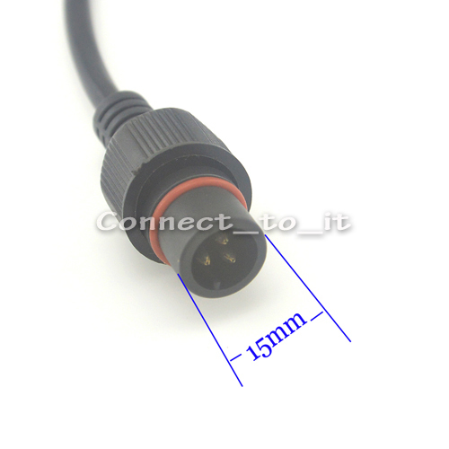 IP68 3 broches M19 Waterproof conector 20 A 500 V électrique DEL Wire Male to Female
