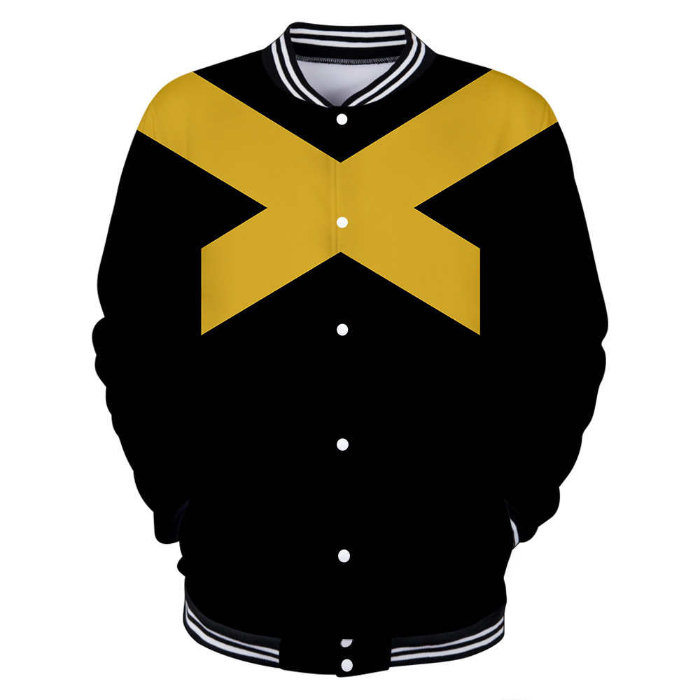 2019 X Men:Dark Phoenix Jean Grey Baseball uniform Cosplay Costume Unisex Tops Halloween Costume for Adults