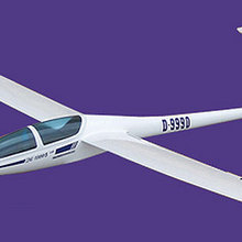 Flyfly DG1000 2630 мм размах крыльев RC планер парусник