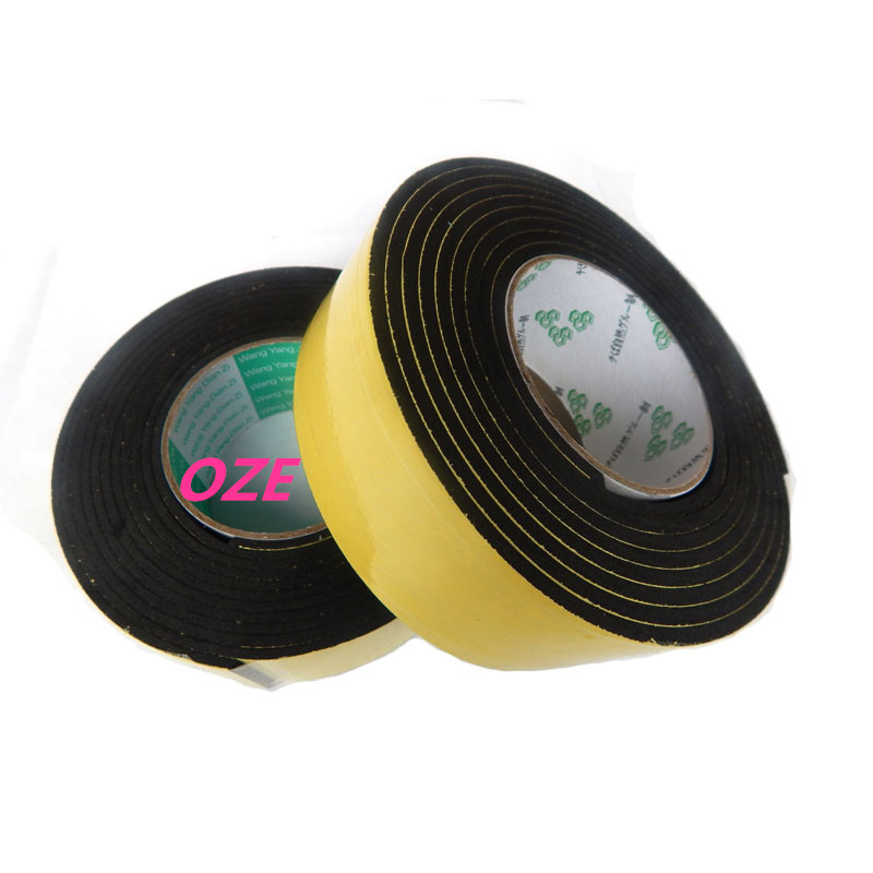 1PCS 50mm x 6mm Single Sided Self Adhesive Shockproof Sponge Foam Tape 2M Long 1pcs single sided self adhesive shockproof sponge foam tape 2m length 6mm x 80mm