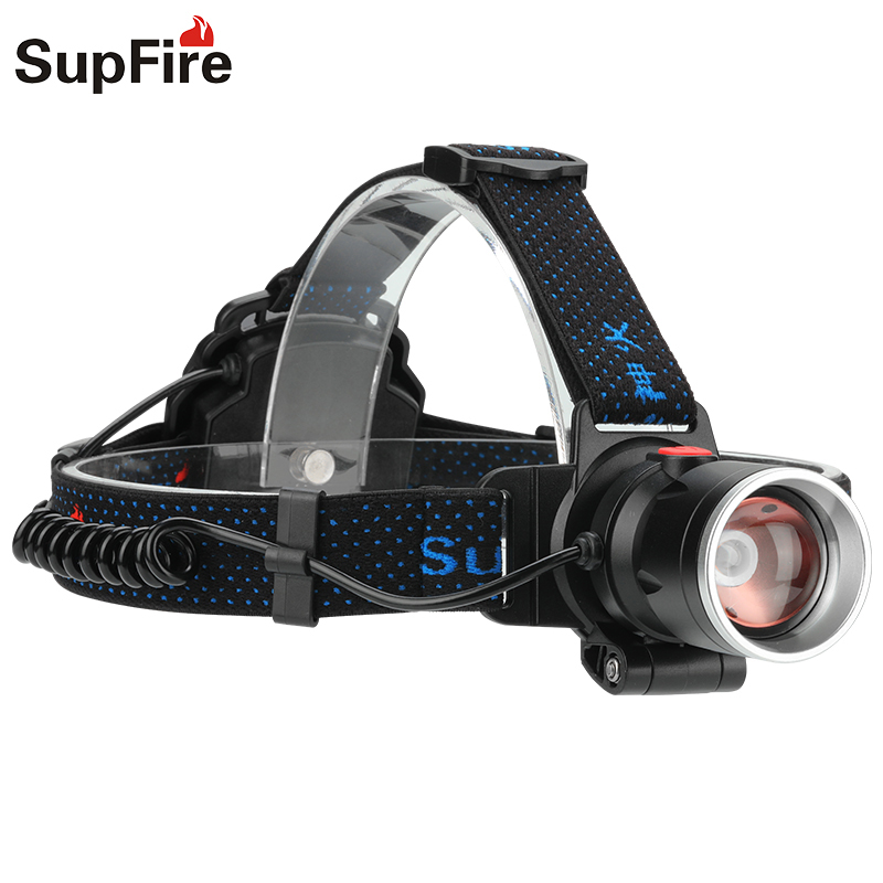 Headlight Supfire HL08 CREE LED 800lumen 3Modes Zoom Headlamp By AA Battery For Camping, Hunting, Fishing, Outdoor Work