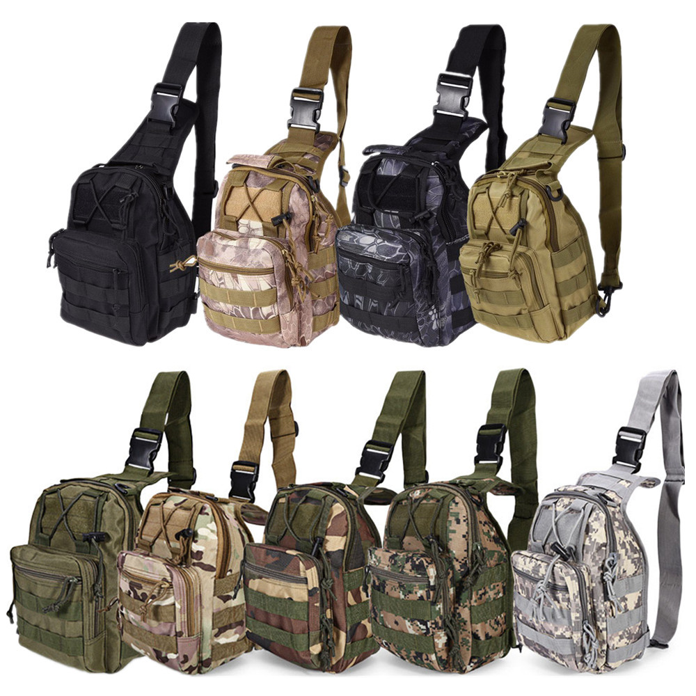 600D Outdoor Shoulder Military Tactical Backpack 28 X 18 X 13 Cm Men Outdoor Bags Adjustable Military Tactic Backpack
