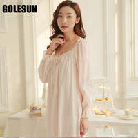 Women princess nightdress women lace cotton nightgown women sleepwear lounge womens nightgowns