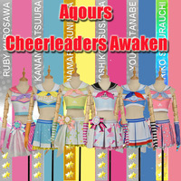 Collection!! Lovelive Sunshine!! Aqours All Figures Cheerleaders Dress Cosplay costume Full set Uniform Customize and stock size