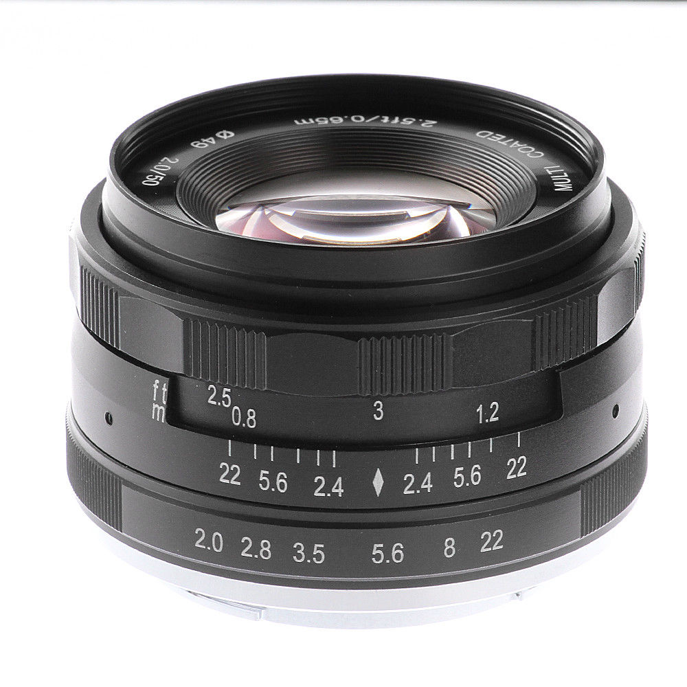 50mm F2 Large Aperture Manual Focus MF Fixed Lens for Sony NEX 3 3N 5 5T 5R 6 7 A6000/ A6100/ A5000/ A5100/ A6300/ A6500 фотоаппарат sony alpha a5100 kit e pz 16 50mm f 3 5 5 6 oss белый [ilce5100lw cec]