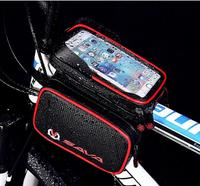Bicycle Frame Bag,Touch Screen Waterproof Phone Bag 6.2 inch,Bike Top Tube Bag Front Beam Cycling Pack Accessories A4398