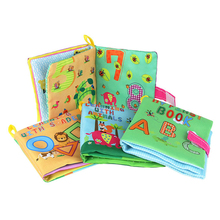 Купить с кэшбэком 1PC Baby Toy 4 Style Soft Cloth Books Rustle Sound Infant Educational Stroller Rattle Toy Newborn Crib Bed Baby Toys 0-36 Months