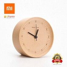 Xiaomi sobre o tempo despertador relógio minimalista de madeira natural para decoração de casa alarme relógio xiaomi enviando da rússia