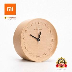 Image 1 - Xiaomi에 대한 시간 알람 시계 천연 나무 미니멀리스트 홈 장식 알람 시계 xiaomi 러시아에서 보내기