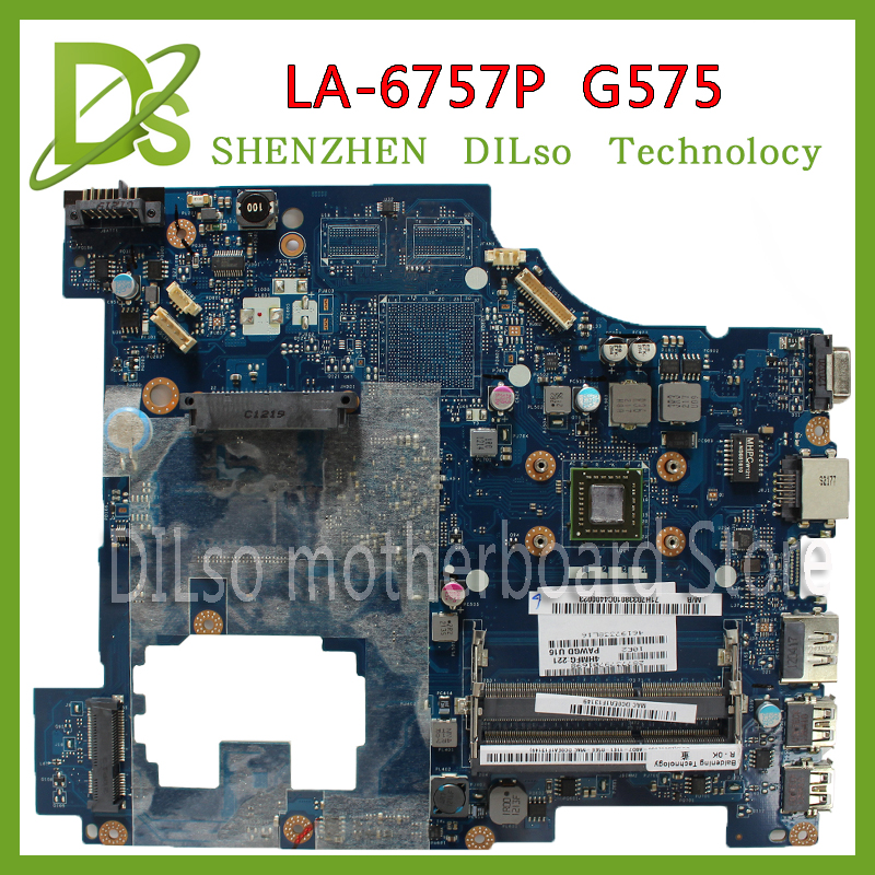 все цены на KEFU LA-6757P motherboard For Lenovo G575 motherboard PAWGD LA-6757P Rev:1.0 laptop motherboard onboard CPU Test motherboard онлайн