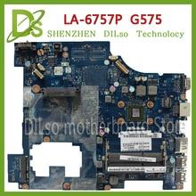 цена на KEFU LA-6757P motherboard For Lenovo G575 motherboard PAWGD LA-6757P Rev:1.0 laptop motherboard onboard CPU Test motherboard