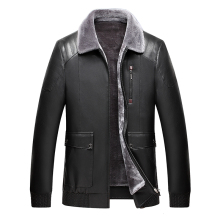 2019 High Quality Men Leather Jackets Faux Sheepskin Coat Winter Jacket Sheep Shearing Liner Fur