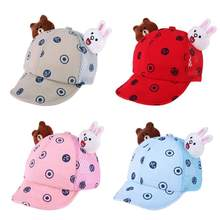 0-3Y verano bebés niños sol sombreros ajustable lindo bebé de dibujos  animados gorra de béisbol playa sombrero niña sombrero de . b6b75dd8bd9