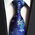 2017 de Alta Qualidade Jacquard Laços Azuis para Homens De Poliéster Casamento Corbatas Gravata Gravatás Gravatas Negócios Floral de Seda 8 cm de Largura