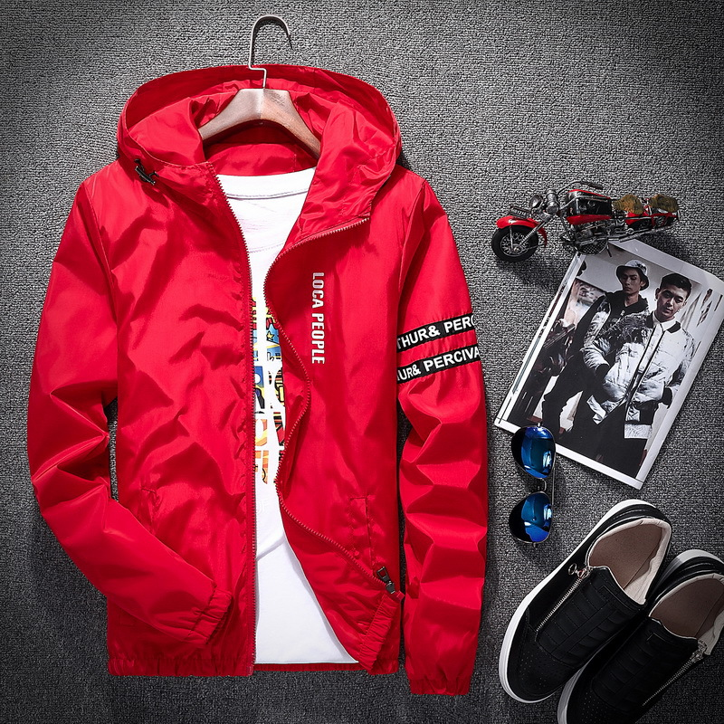 2018 Spring Autumn New Fashion Slim Fit Young Men Hooded Jacket Thin Jackets Brand Casual Windbreaker Top Quality