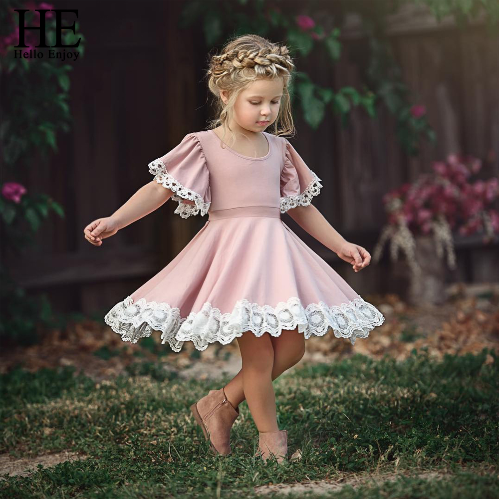 ER Hallo Genießen Kinder Baby Mädchen Kleidung Spitze Prinzessin ...