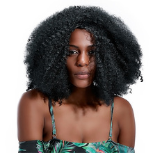 Long Kinky Curly Black Afro Wigs for Black Women 20'' African Synthetic Hair Wigs Female Costume Wig Heat Resistant OEM HPHR-014 shaggy afro curly black heat resistant fiber fashion long capless wig for women