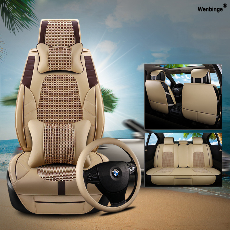 high quality Leather car <font><b>seat</b></font> <font><b>covers</b></font> For automobiles armchair <font><b>covers</b></font> for ford bmw renault toyota kia vw accessories car-styling