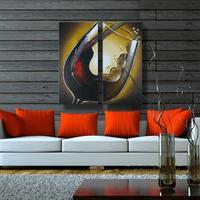 Pintado a mano moderno arte de la pared de imágenes living room decoración hermosa pintura al óleo del grupo en lona no enmarcado