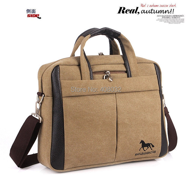 Бренд бизнес-ноутбук сумки распространяются 14 дюймовый ноутбук, Высокое качество холст ноутбук сумка и портфель двойного назначения