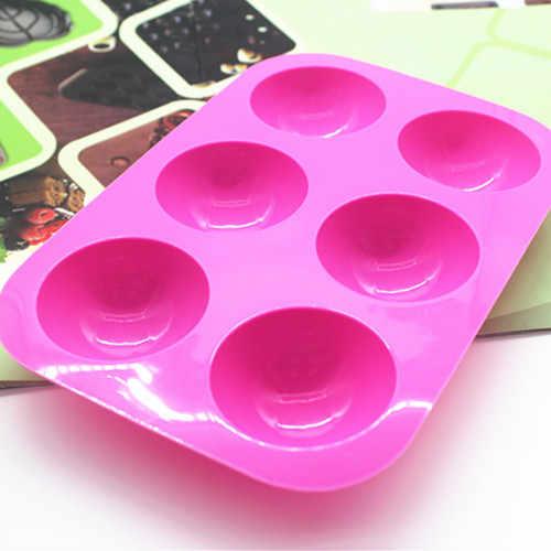 سيليكون قالب الكعكة ثقب 6 شبه كروية شكل قالب الصابون
