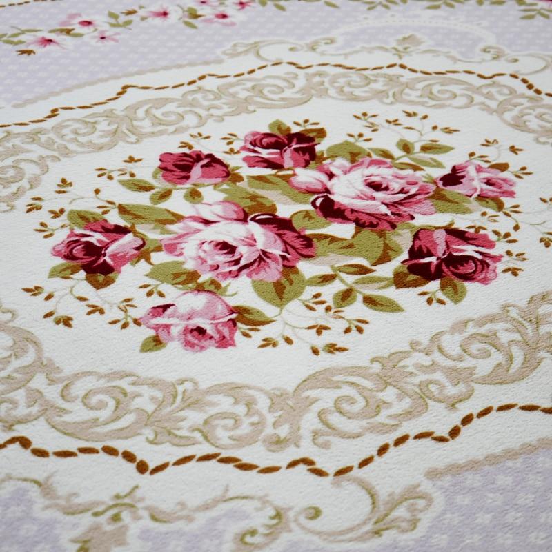 200X240 CM pastorale grands tapis pour salon moderne Rose fleur chambre chevet Europe tapis et tapis canapé Table princesse tapis - 3
