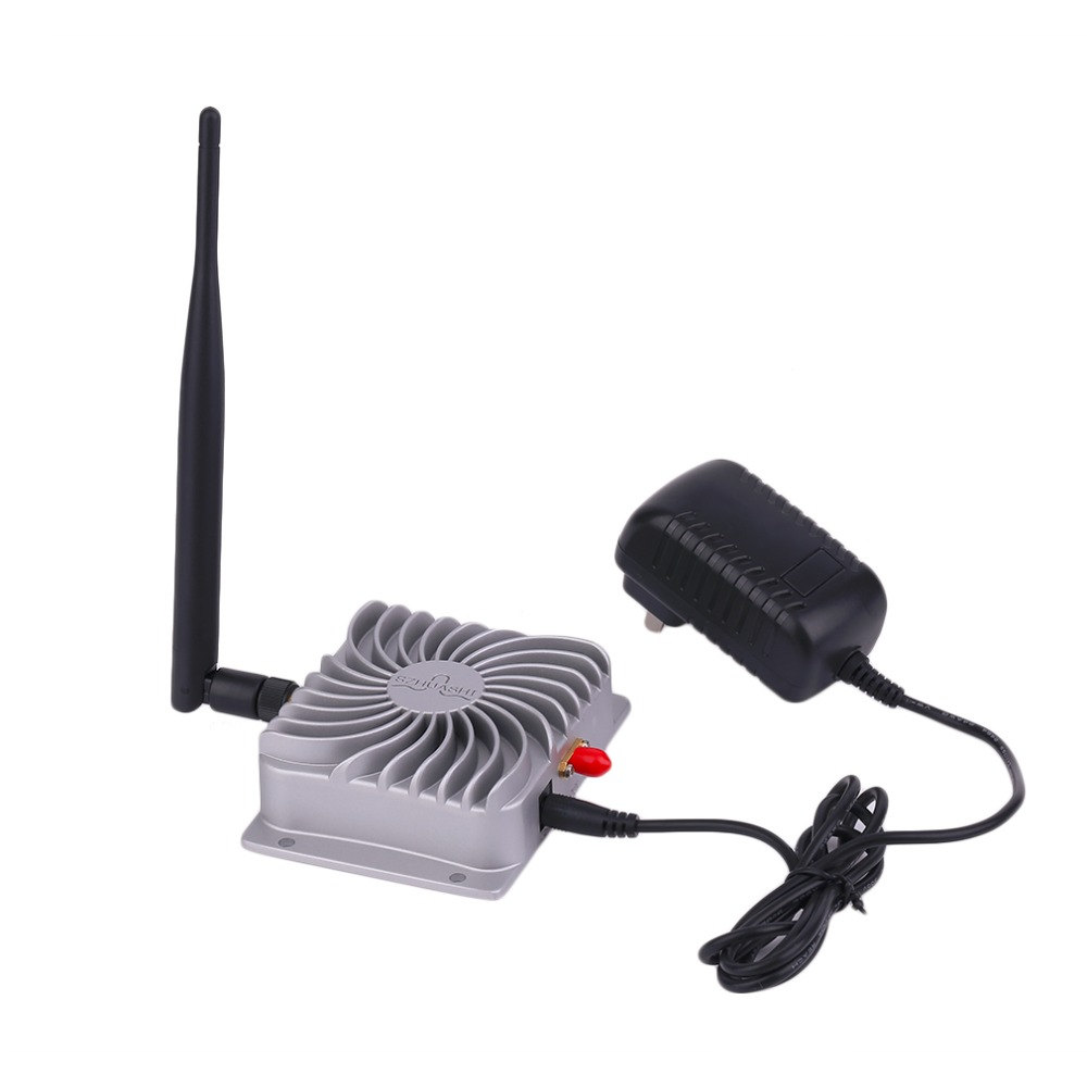 2.4GHZ Super Long Range High Speed IEEE802.11b/g/n WiFi WLAN Signal Booster 5W Wifi Wireless Broadband Amplifier Silver bt sport minimum broadband speed