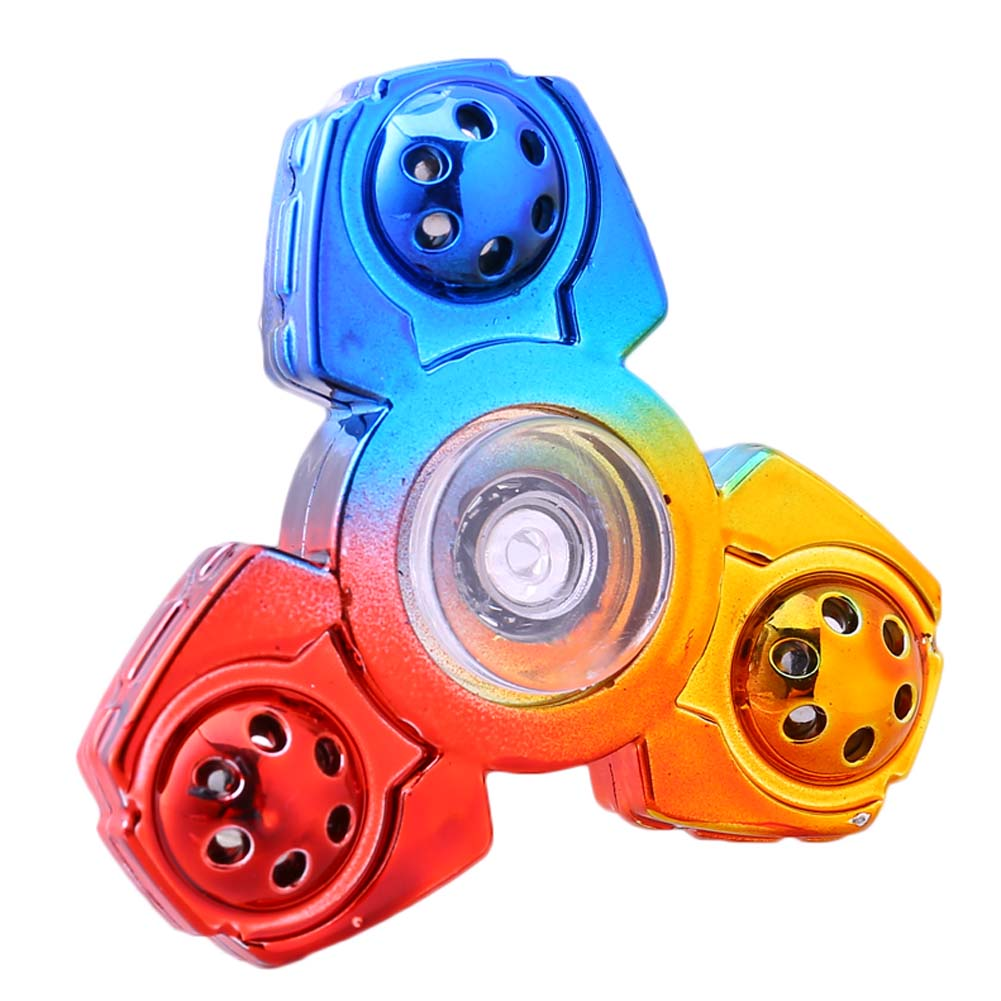 New Tri-Spinner Multicolor Colorful Metail Color Hand Spinner Toys Plastic EDC Fidget Spinner For Autism Children Kids Toys