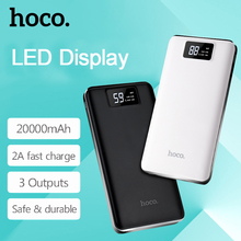HOCO B23 20000mAh,10000mAh,15000mAh Flowed fast Power Bank LED display for mobile phones, tablet PC portable for outdoors