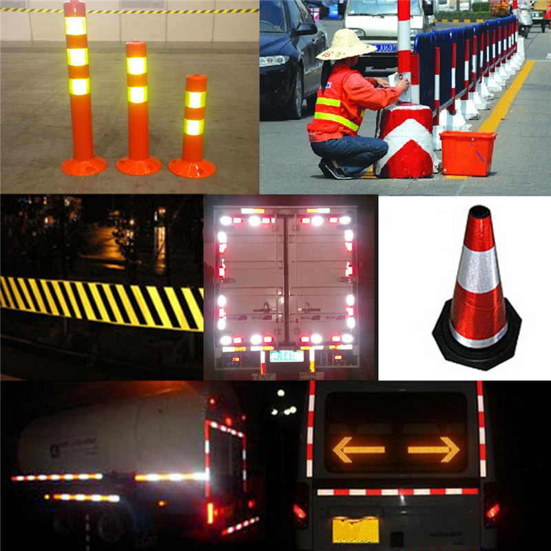 Pure color reflect light safety security caution reflective tape pure color reflect light safety security caution reflective tape warning tape sticker self adhesive tape in warning tape from security protection on aloadofball Gallery