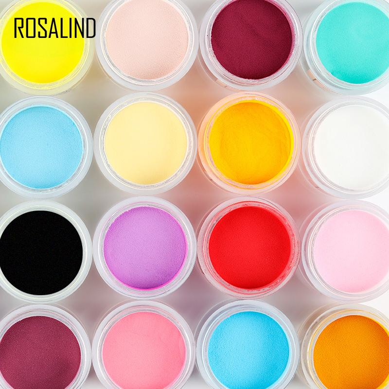 ROSALIND 10g Dipping Powder Nail Glitter Pigment powder For Nail Gel Polish Manicure Glitter Nail Soak Glitter Sequins NRD