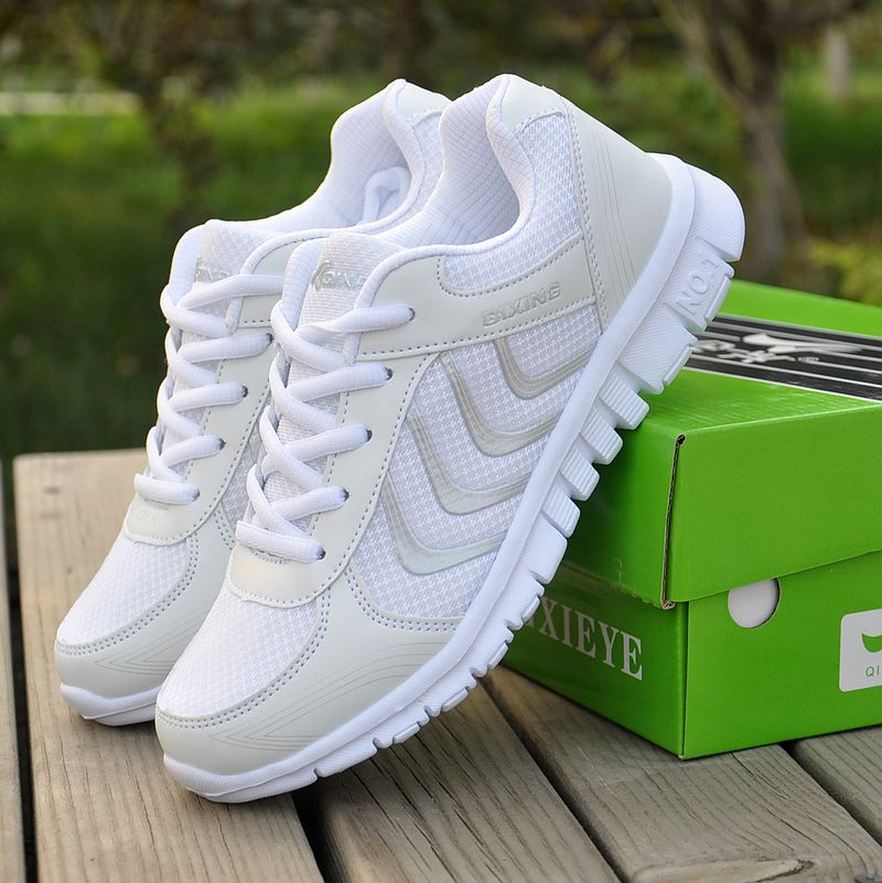 Women sneakers 2018 new arrivals fashion women shoes white breathable mesh casual shoes women tenis feminino wedge sneakers