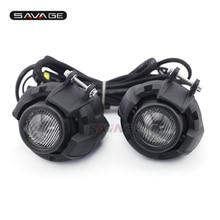 Универсальный вождения Aux огни комбинация туман лампа для HONDA CRF 1000 л Водонепроницаемый Мотоцикл аксессуары части