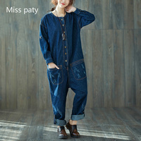 ladies dungarees loose fit casual boyfriend denim wide leg rompers long basic overalls jeans pants for women trousers jumpsuits