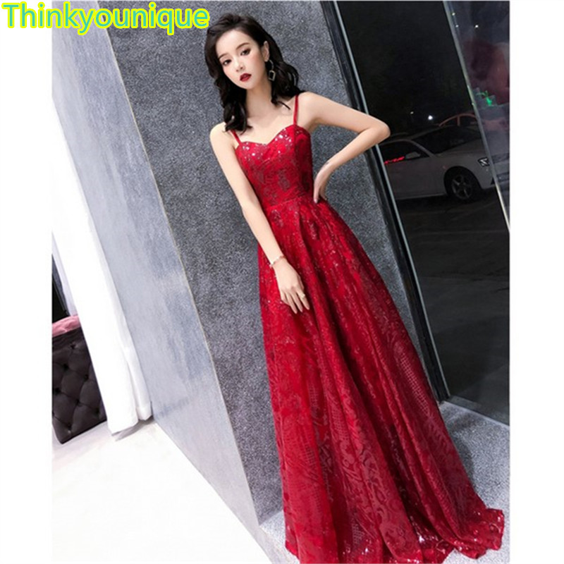 2019 Free shipping Boat neck Sequined Party Prom Gowns Long   Evening     dresses   vestidos de festa Robe de soriee Abiti da sera SA146