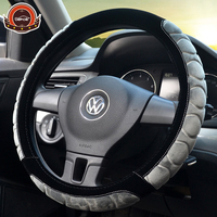 New Style Winter Corrugated Non Slip Car Steering Wheel Cover Short Plush 5 Color Diameter36 38