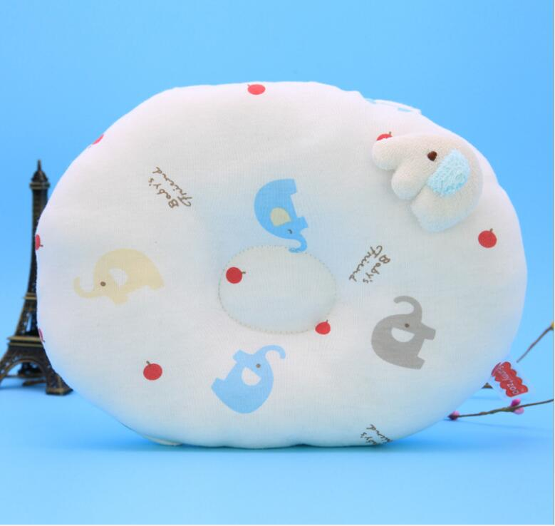 Cartoon Baby Pillow Sleeping Support Prevent Kids Head Protection Pillow Cushion Plush Animal Shape Pad Infant Safety Product