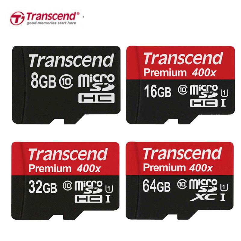 Original Transcend Micro sd Card Micro SD SDXC 128GB 64GB UHS-I SDHC 32GB 16GB 8GB Class ...