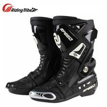 Motocross buty ochronne Botas Touring wodoodporne męskie wyścigi jazda motocyklem Chopper skuter buty uliczne buty motocyklowe