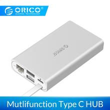ORICO 7-in-1 USB-C Type-C Desktop Laptop Docking Station for MACbook Apple USB-C to HDMI 4K VGA Port HUB RJ45 Network Converter