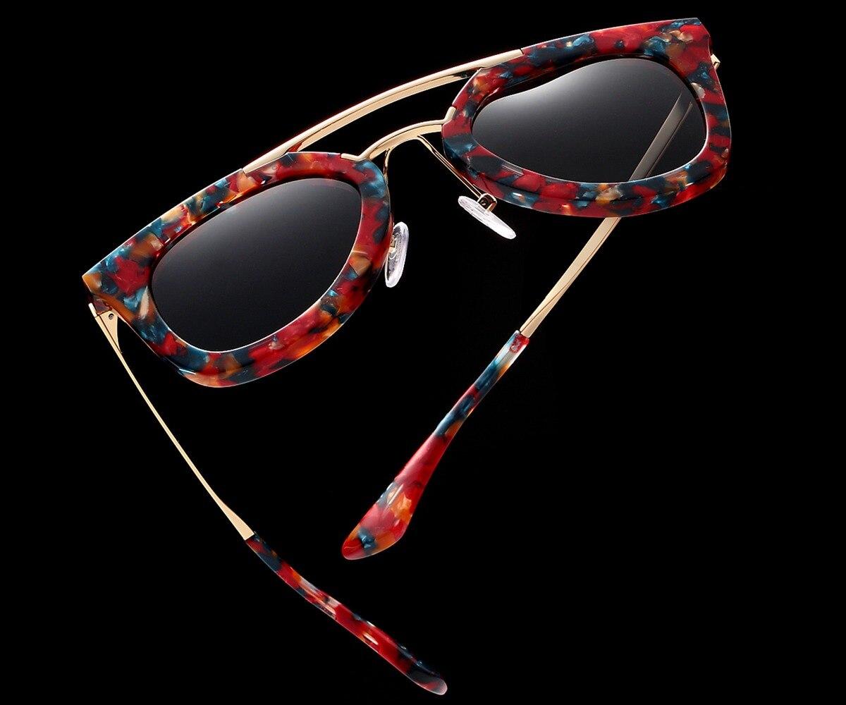 Handmade Real Acetate Glasses Sunglasses for Women High Quality Handmade Original Brand Design Fashion Trend Women Sunglasses
