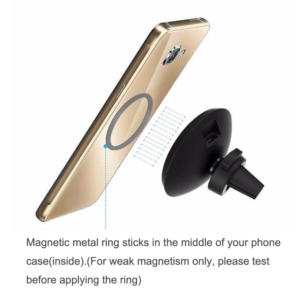360 bil QI trådlös laddarehållare magnetisk luftventilationsdocka - Reservdelar och tillbehör för mobiltelefoner - Foto 5