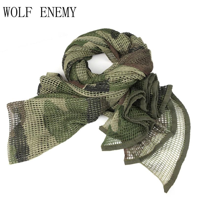 Russische YEGER Woodland Camo Taktische Armee Mesh Baumwolle Schal - Sportbekleidung und Accessoires