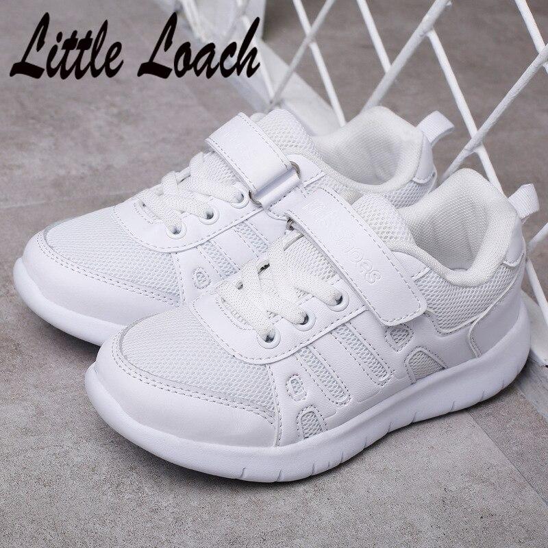 Girls Boys Spring Summer White Sneakers