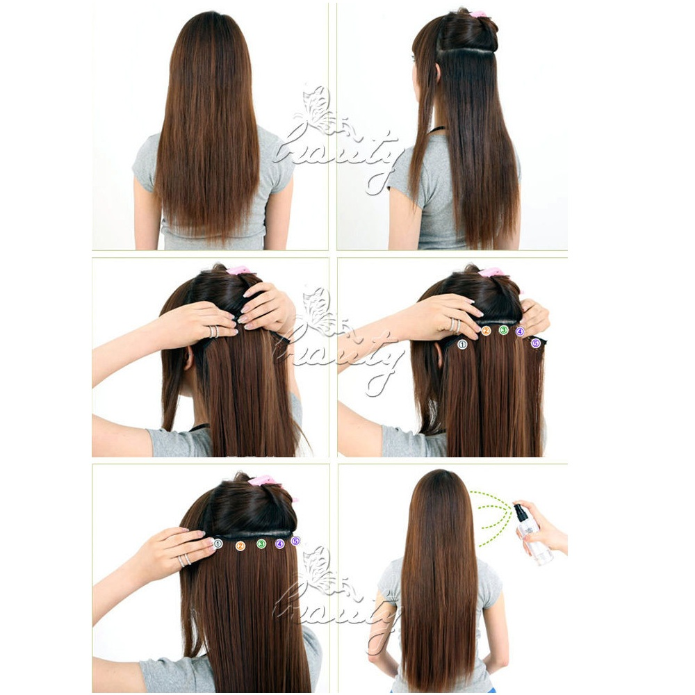 24 one piece clip in straight synthetic dip dye ombre hairpiece 24 one piece clip in straight synthetic dip dye ombre hairpiece hair extensions 27 dark brown to light brown color 2016 new on aliexpress alibaba pmusecretfo Image collections