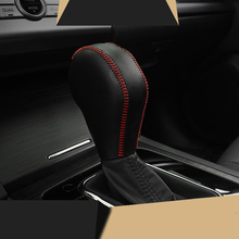 lsrtw2017 cowl leather car gear lever cover handbrake for subaru forester xv outback legacy 2013-2019